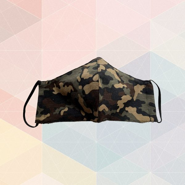 Green Camo Mask - Adult Sized
