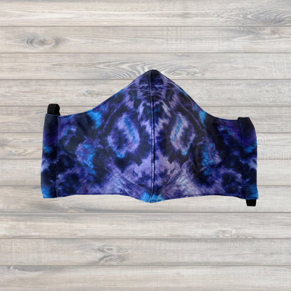 Tie-Dye Midnight Blues Mask - Adult Sized