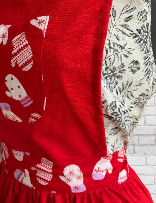 Apron with Pocket | Christmas Apron | Full Apron | Christmas Gift | Gifts for her